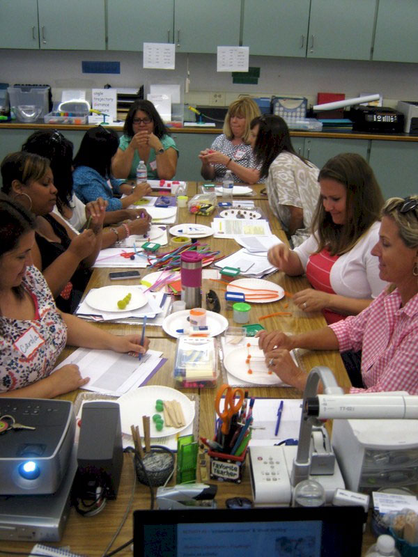 Early Childhood Educations Learn in Hands On Active Workshop