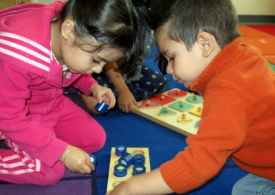 Young children learning through play and discussion