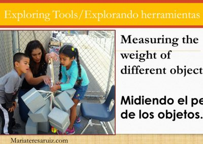 Measuring the weight of different objects